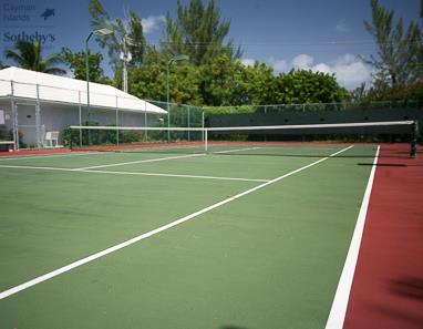 Tennis court at The Avalon