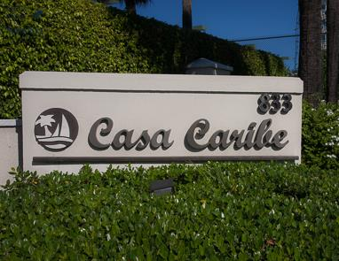 Sign reads Casa Caribe