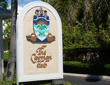 Sign at The Cayman Club