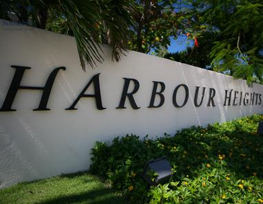 Sign at Harbour Heights