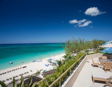 Balcony view of Seven Mile Beach from The Ritz-Carlton Grand Cayman
