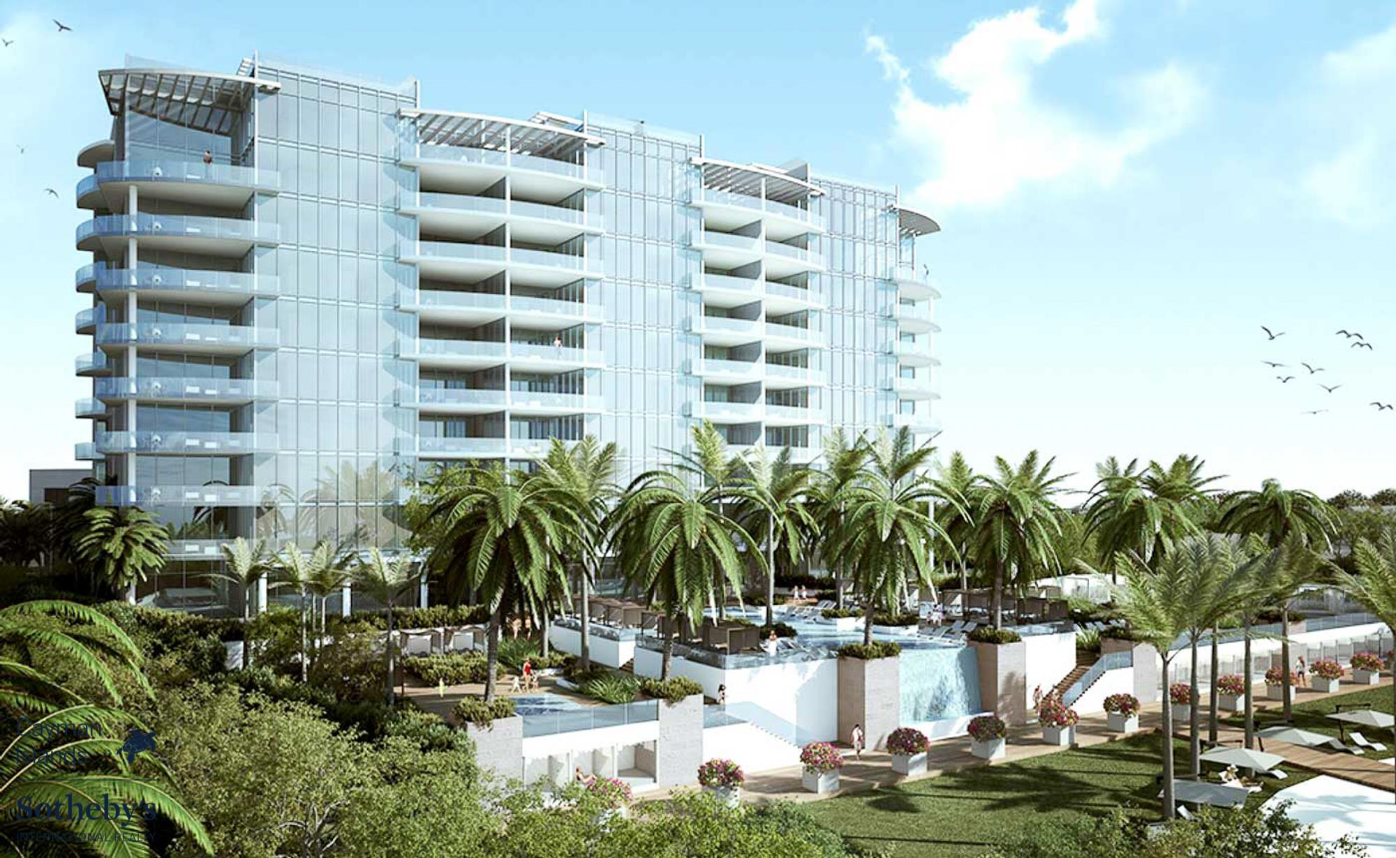 The Watermark, Seven Mile Beach. Artists rendering of the new Fraser Wellon development