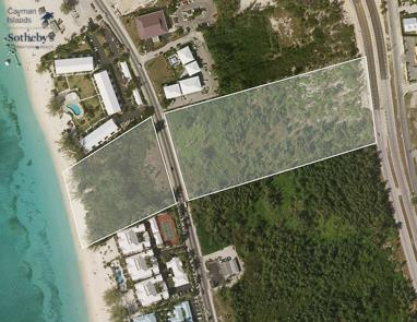 Aerial map showing site of The Watermark, Seven Mile Beach
