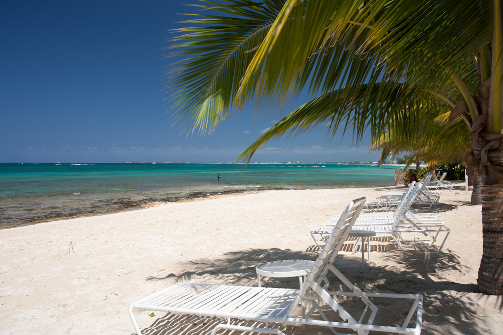 View across Seven Mile Beach, Grand Cayman