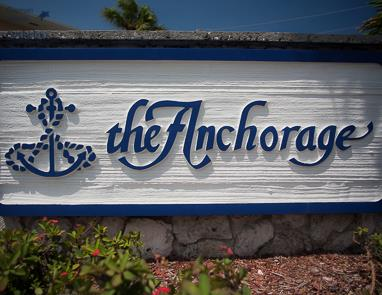 Sign at The Anchorage, Seven Mile Beach