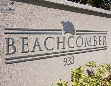 Sign reads Beachcomber