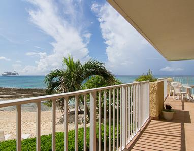 Balcony view of Seven Mile Beach from GrapeTree #9