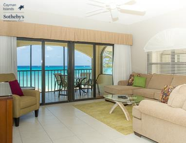 Heritage Club Living room looking out to Seven Mile Beach