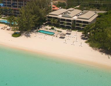 Aerial view of Heritage Club adjacent to The Renaissance on Seven Mile Beach