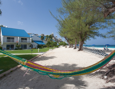 Hammock on Seven Mile Beach in front of Villas of the Galleon