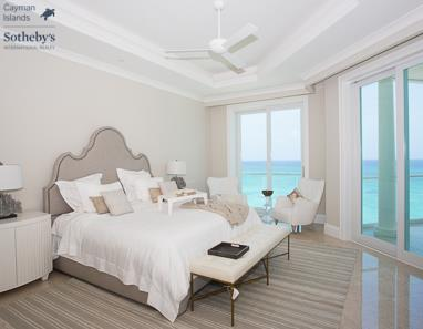 Master bedroom at luxury condo development The WaterColours