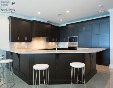 Kitchen within a luxury condo at The WaterColours