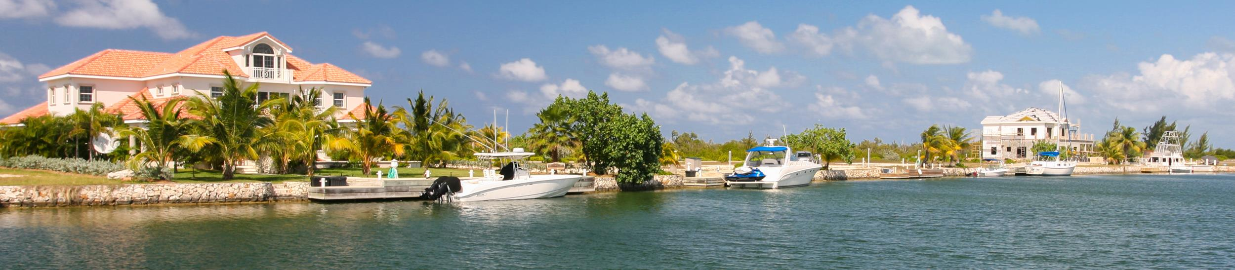 View across the canal in The Shores, Grand Cayman