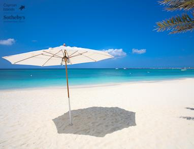 Sun umbrella on Seven Mile Beach, The Sovereign