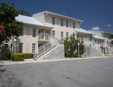 Front aspect White Sands condominium complex