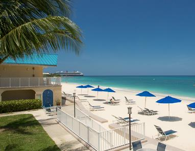 View from Cayman Reef Resort across Seven Mile Beach