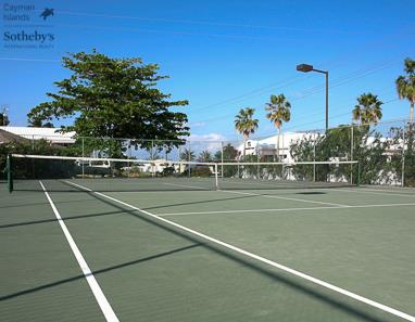 Tennis court at Cayman Reef Resort