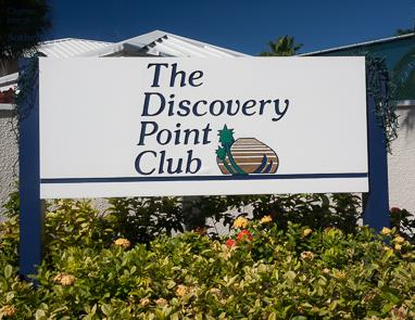 Sign at The Discovery Point Club