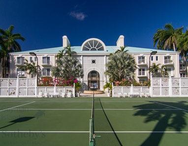 Tennis court at The Great House, Seven Mile Beach