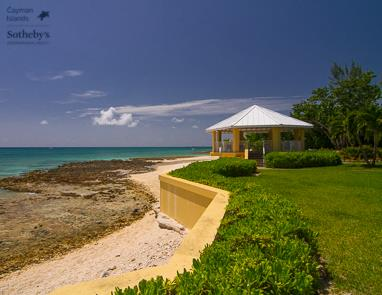 Ocean front Cabana overlooking Caribbean Sea at Poinsettia, Seven Mile Beach