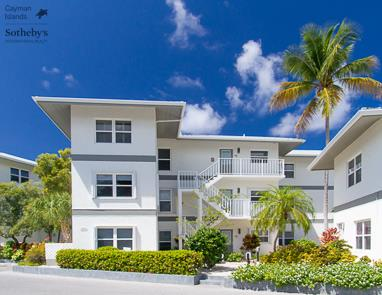 Front aspect of Tamarind Bay condos, Seven Mile Beach