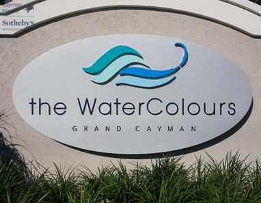 Sign board reads: The WaterColours