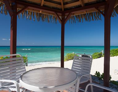 View of Seven Mile Beach from cabana at Drifter's Cove