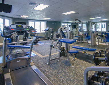 Fitness studio at The Pinnacle, Seven Mile Beach