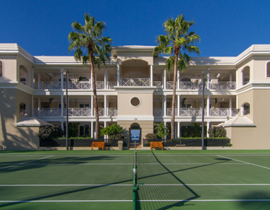 Tennis court at The Pinnacle, Seven Mile Beach