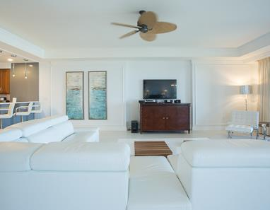 Living room within Private Residence at The Ritz-Carlton, Grand Cayman